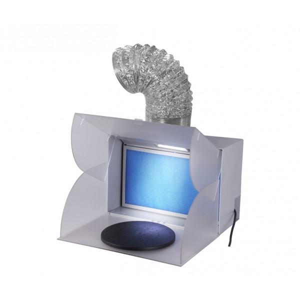 minispritzkabine mit drehende platte. Black Bedroom Furniture Sets. Home Design Ideas