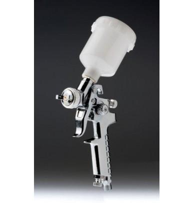 Minipistole und Pistole HVLP 0.8 mm aus Chrom