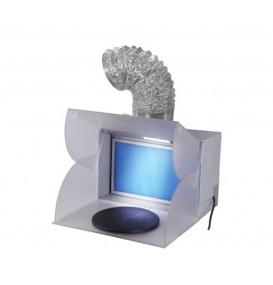 Minispritzkabine mit drehende Platte