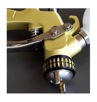 Mini Pistole - SAT HVLP Premium Gold 0.8mm + KIT 1.0mm