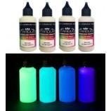 Glow Serie – 4 phosphoreszierende Acryl-PU Lacke für Airbrushpistole