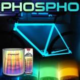Komplettes Kit von phosphoreszierenden Farben für Fahrräder