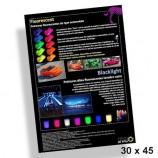 Poster 30X45 cm fluoreszierende Lacke